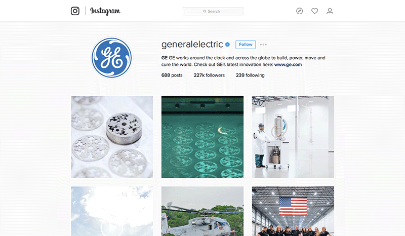 GE Instagram Account Image